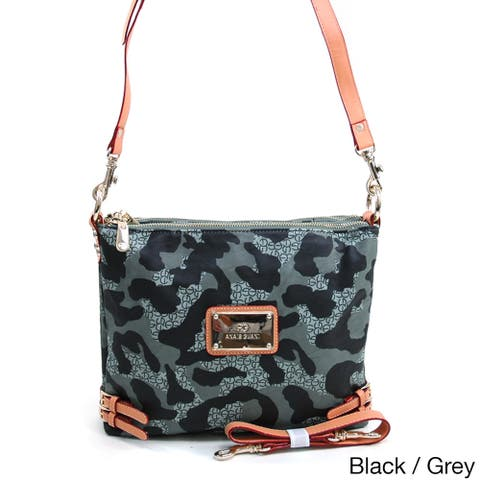 Dasein by Anais Gvani Camouflage Messenger Bag with Interchangeable Straps