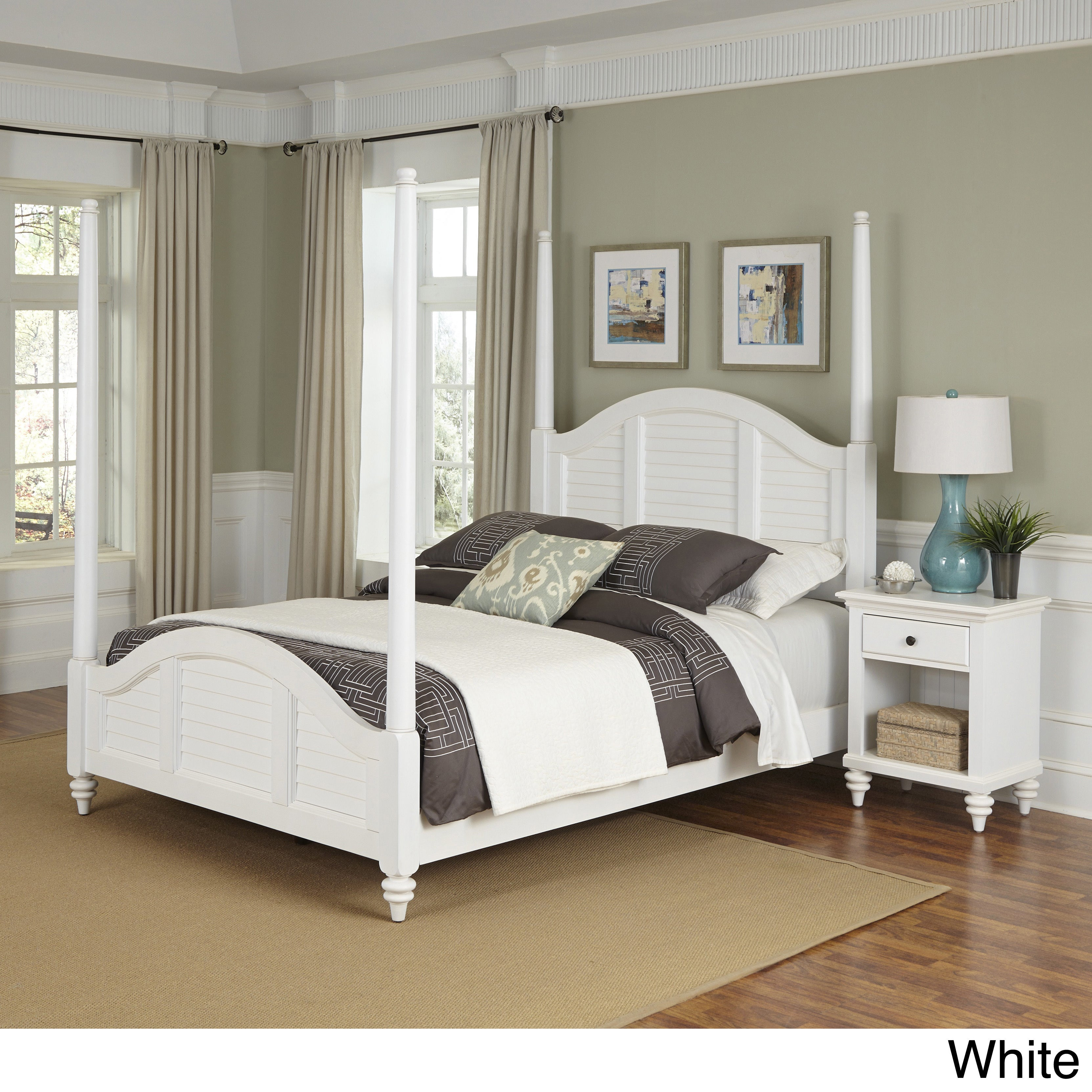 Bermuda Poster Bed and Night Stand by Home Styles