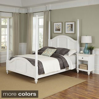 Bermuda Poster Bed and Night Stand by Home Styles - Thumbnail 0