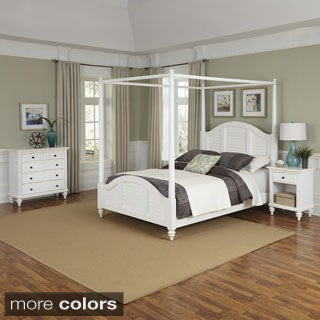 Home Styles Bermuda Canopy Bed, Night Stand, and Chest