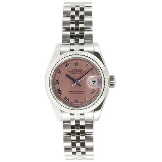 Pre-Owned Rolex Women's Datejust Jubilee Band Salmon Dial Watch