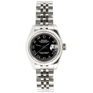 Pre-Owned Rolex Women's Datejust Black Dial Automatic Watch