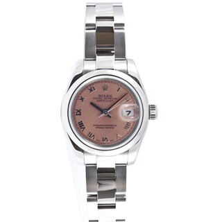 Pre-Owned Rolex Women's Datejust Stainless Steel Oyster Band Salmon Dial Watch