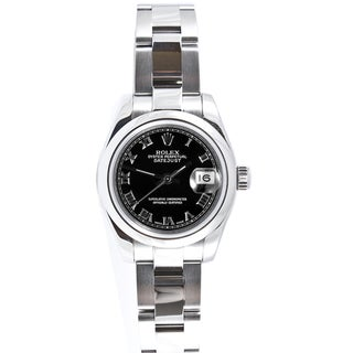 Pre-owned Rolex Women's Datejust Stainless Steel Oyster Band Automatic Watch