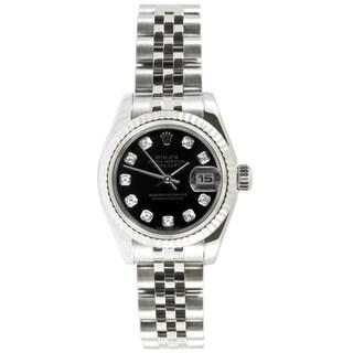 Pre-owned Rolex Women's Datejust Stainless Steel Jubilee Diamond Dial Watch