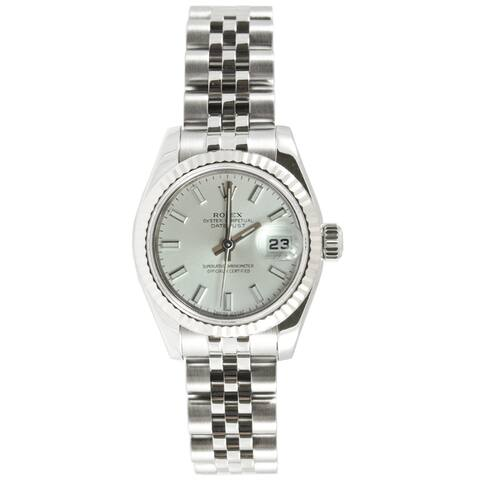 Pre-Owned Rolex Women's Datejust Stainless Steel Jubilee Band Stick Dial Watch