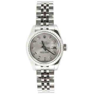 Pre-Owned Rolex Women's Datejust Stainless Steel Diamond Accent Watch