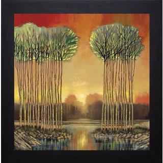 Ford Smith 'Tranquil Embrace' Brushstroke Framed Artwork
