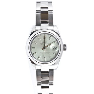 Pre-owned Rolex Women's Datejust Stainless Steel Oyster Stick Dial Watch