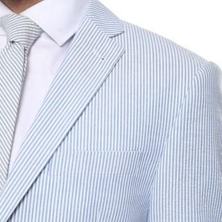 Zonettie by Ferrecci 2-piece 2-button Seersucker Cotton Slim Fit Summer Suit
