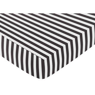 Sweet Jojo Designs Black and White Stripe Fitted Crib Sheet|https://ak1.ostkcdn.com/images/products/9270529/P16434550.jpg?impolicy=medium