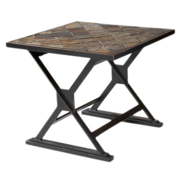 Durban South African Slate Top End Table