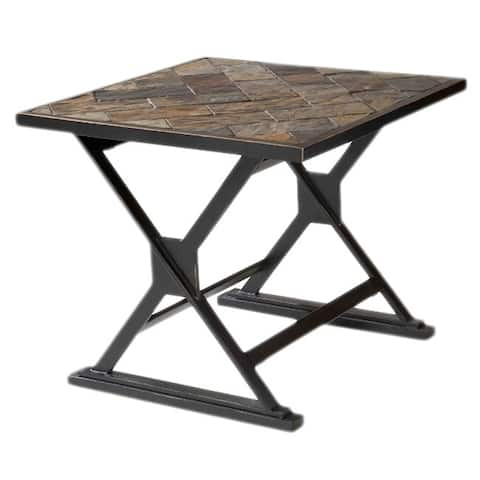 Durban South African Slate-top End Table