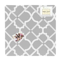 Sweet Jojo Designs Grey Trellis Lattice Fabric Bulletin Board