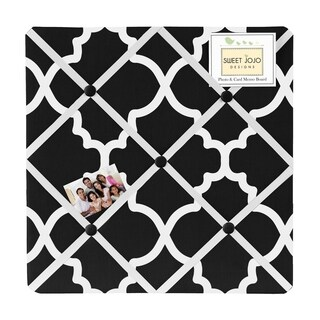 Sweet Jojo Designs Black and White Trellis Fabric Bulletin Board