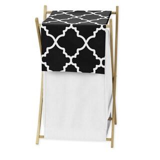 Sweet Jojo Designs Black and White Lattice Laundry Hamper