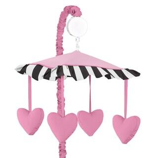 Sweet Jojo Designs Pink Hearts Musical Crib Mobile