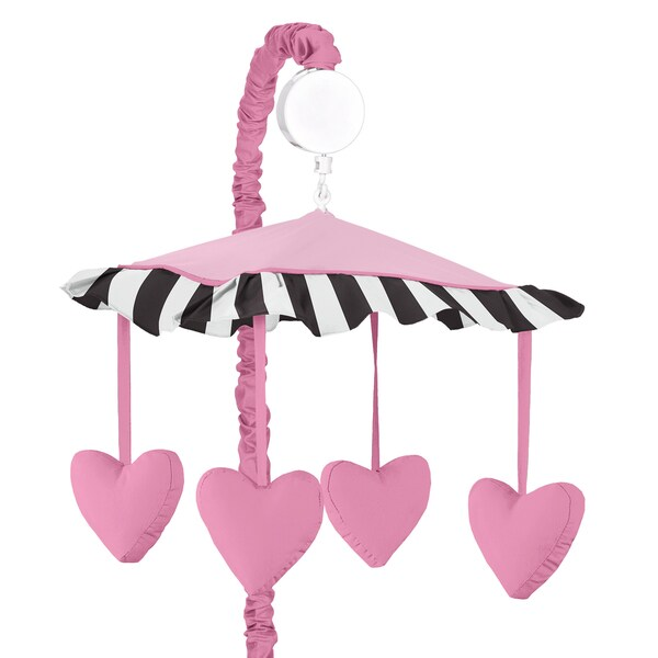 Sweet Jojo Designs Pink Hearts Musical Crib Mobile