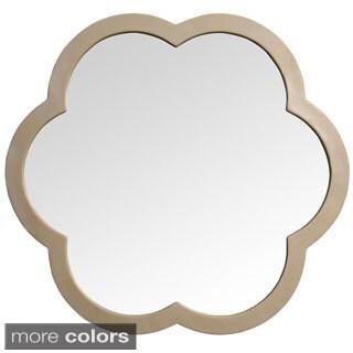 'Flora' White Resin Mirror