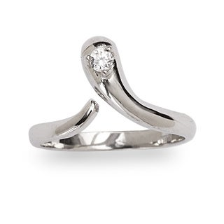 Sterling Silver Cubic Zirconia Snake Adjustable Toe Ring