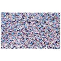 Shaggy Raggy Multicolor Cotton Rug - 2'8x4'8