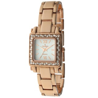 Peugeot Women's 7044RG Crystal Rose Goldtone Watch