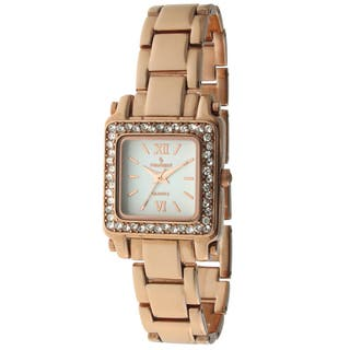 Peugeot Women's 7044RG Crystal Rose Goldtone Watch https://ak1.ostkcdn.com/images/products/9270775/P16434765.jpg?impolicy=medium