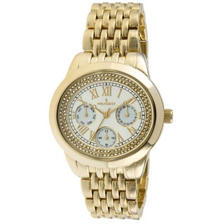 Peugeot Women's 7089G Crystal Accent Goldtone Multifunction Watch