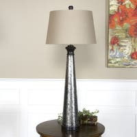 Uttermost Mustapha 1-light Distressed Silver Table Lamp