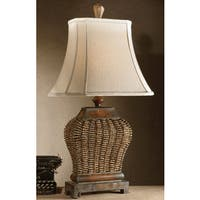 Uttermost Augustine 1-light Mahogany Table Lamp