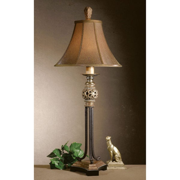 Uttermost Jenelle Rope Matte Black 1-Light Floor Lamp