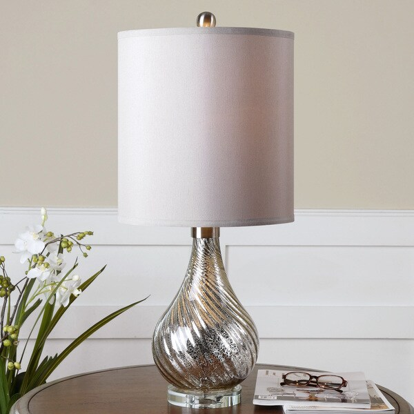Uttermost Girona Glass Crystal Metal Floor Lamp