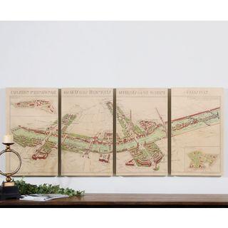 Uttermost Paris Map Canvas Art (Set of 4)