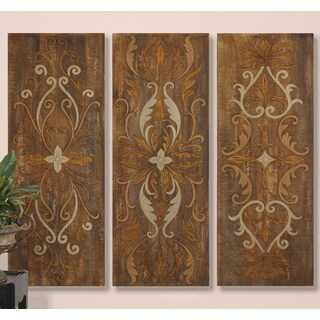 Uttermost Grace Feyock 'Elegant Swirl Panels' 3-piece Hardback Art Set