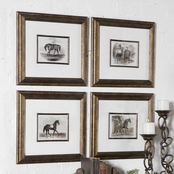Uttermost Horses Canvas Art (Set of 4)