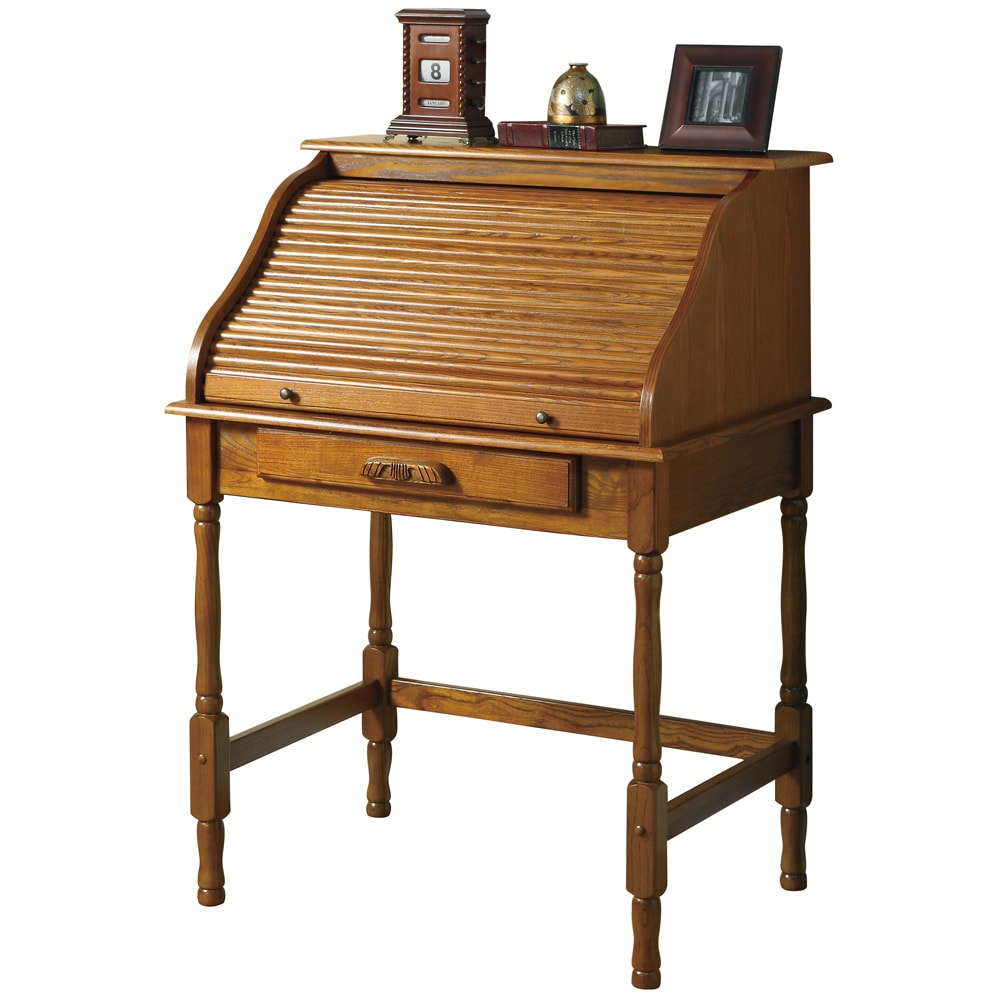 Coaster Furniture Roll-top Oak Secretary Desk (Oak), Tan