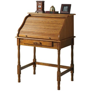 Coaster Company Roll-top Oak Secretary Desk