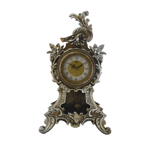 Antique Style Table Clock with Swinging Pendulum