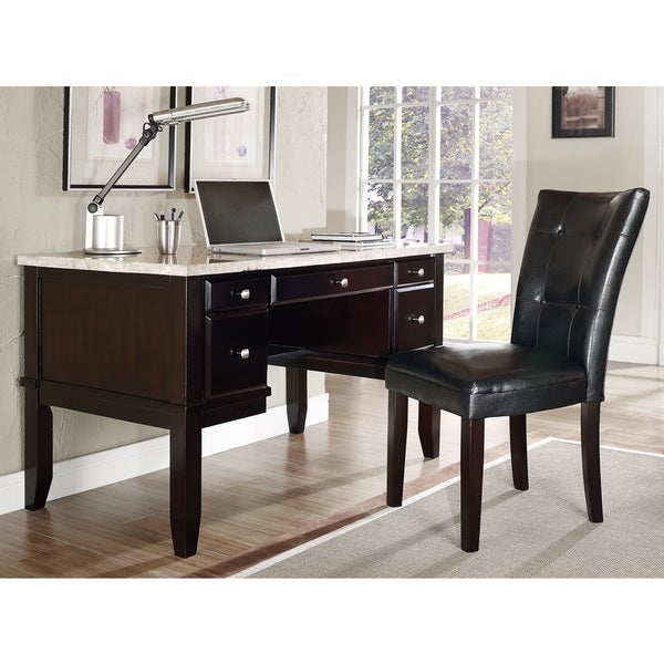 Malone White Marble Top Desk Set by Greyson Living