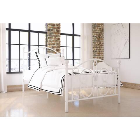 Copper Grove Norbert Metal Finial Detailing Twin Bed