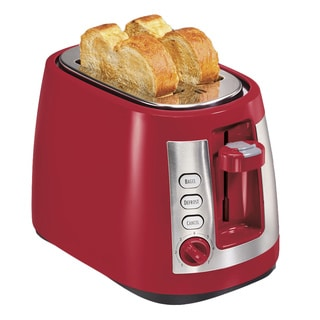 Hamilton Beach Red Cool Touch 2-slice Toaster with Retractable Cord
