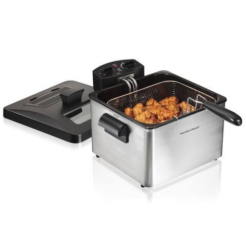 Hamilton Beach 35034 Silver 4.5-liter Professional-Style Deep Fryer