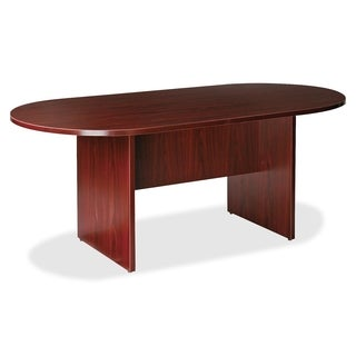 Lorell LLR87272 Essentials Mahogany Oval Conference Table