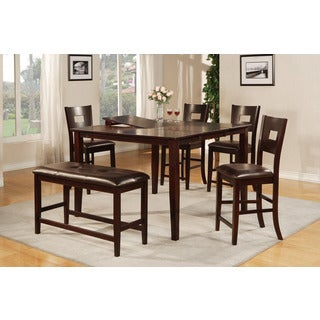 Narbonne 6-piece Dark Brown Counter-height Dining Set