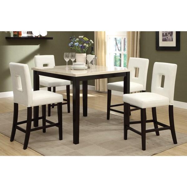 Superior Savona 5 Piece Cream/ Rich Brown Counter Height Dining Set