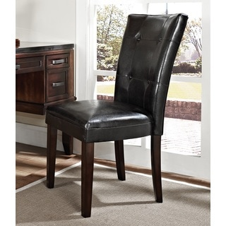 Greyson Living Cambridge Black Vinyl Parson Chair