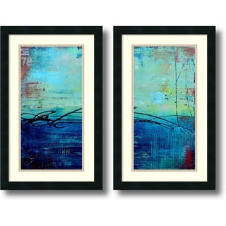 Erin Ashley 'Venice Beach- set of 2' Framed Art Print 15 x 24-inch Each