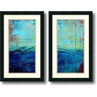 Framed Art Print 'Venice Beach - set of 2' by Erin Ashley 15 x 24-inch Each