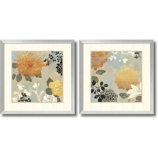 Aimee Wilson 'Grace Flowers- set of 2' Framed Art Print 26 x 26-inch Each
