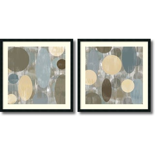 Brent Nelson 'Letting Go- set of 2' Framed Art Print 34 x 34-inch Each
